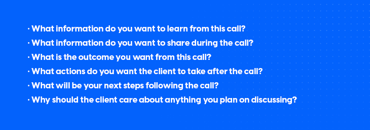 examples of questions that can conduct a findings discussion call with the client