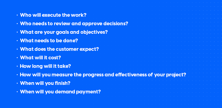 examples of questions that help you create a business proposal