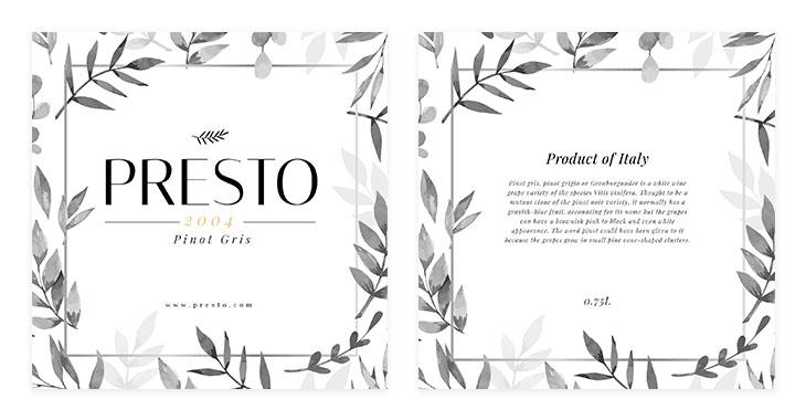 elegant wine label template
