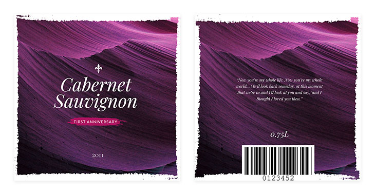 editable free wine label template