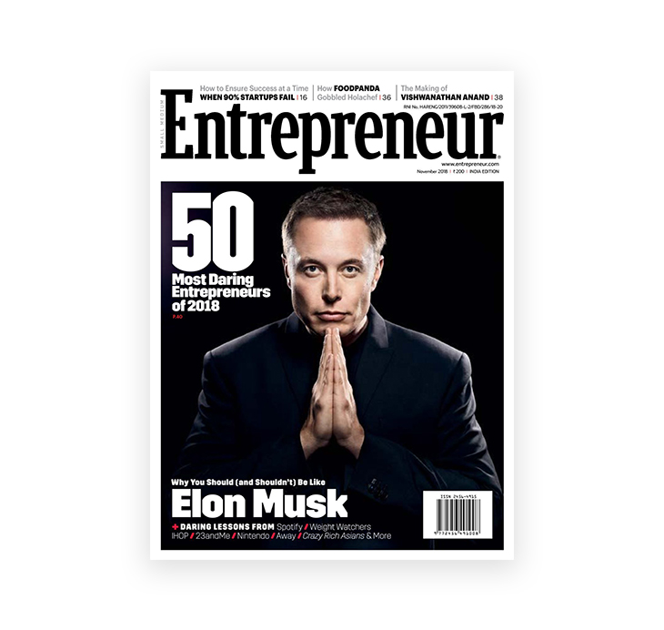 front cover of Entrepreneur magazine