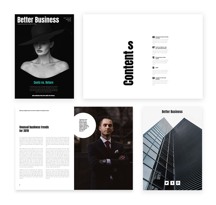 Grey Business Magazine Template