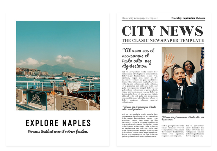 Using pacifico headline font for a travel brochure vs political newspaper