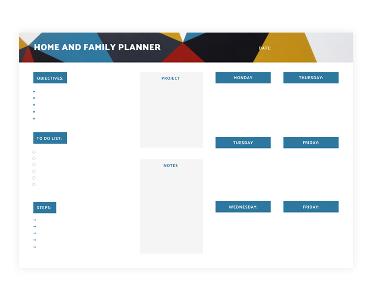 Weekly Work Plan Template