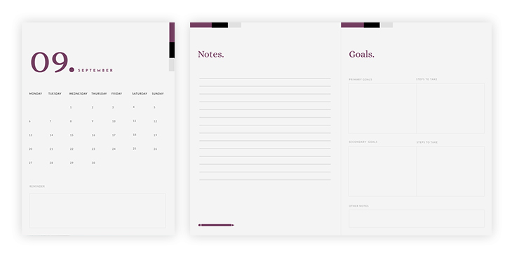 Monthly Planner Kit Template