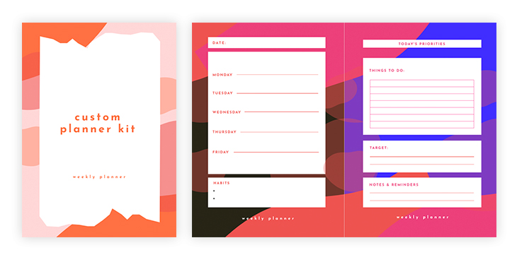 Custom Planner Kit Template
