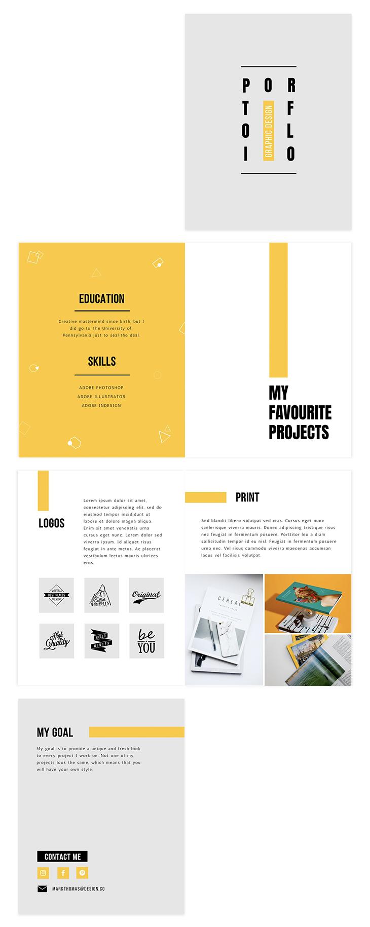 Minimalist Graphic Design Portfolio Template