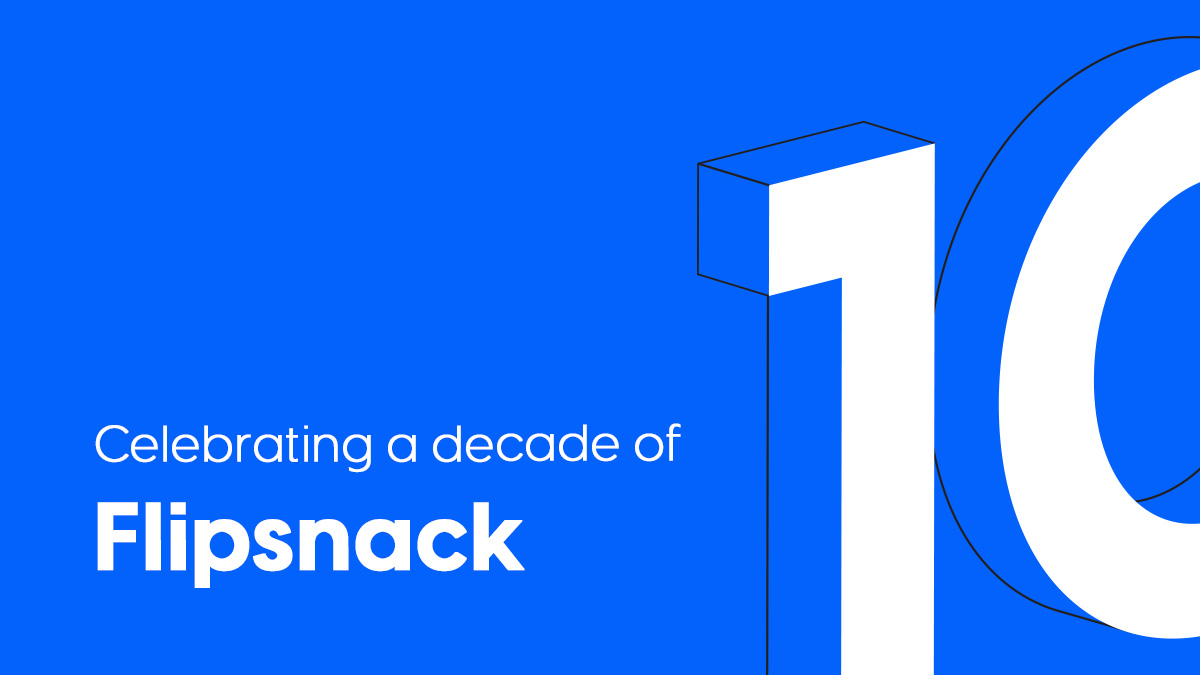 celebrating a decade of Flipsnack blog article cover
