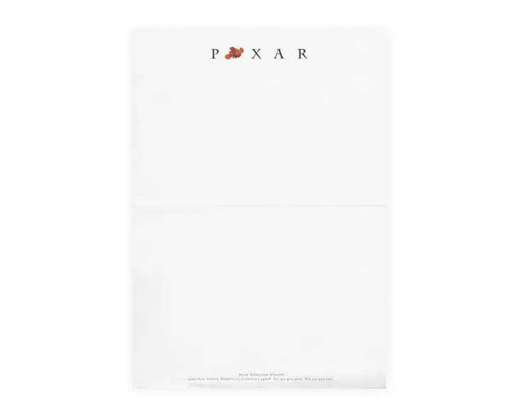 how Pixar uses letterheads