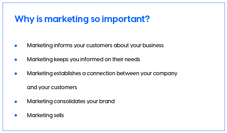 Marketing strategies for small businesses - Top reasons why marketing is so important