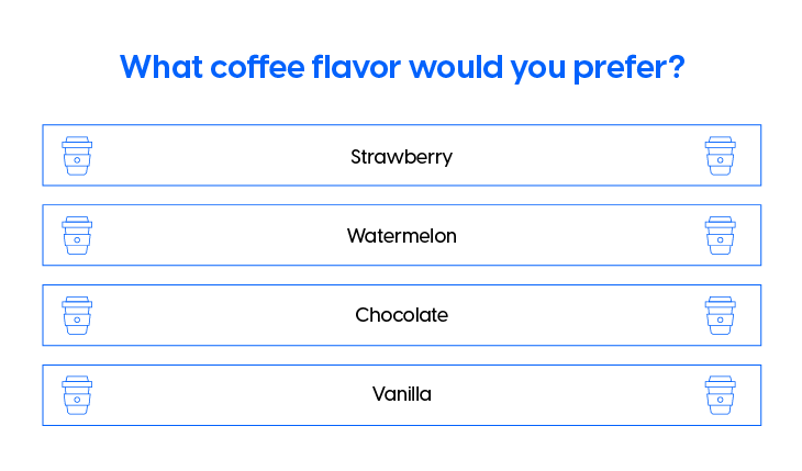 Marketing strategies for small businesses - Coffee flavor survey