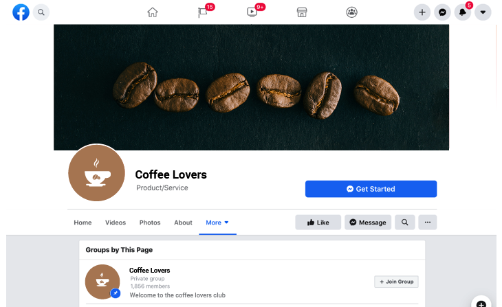 Coffee related Facebook group