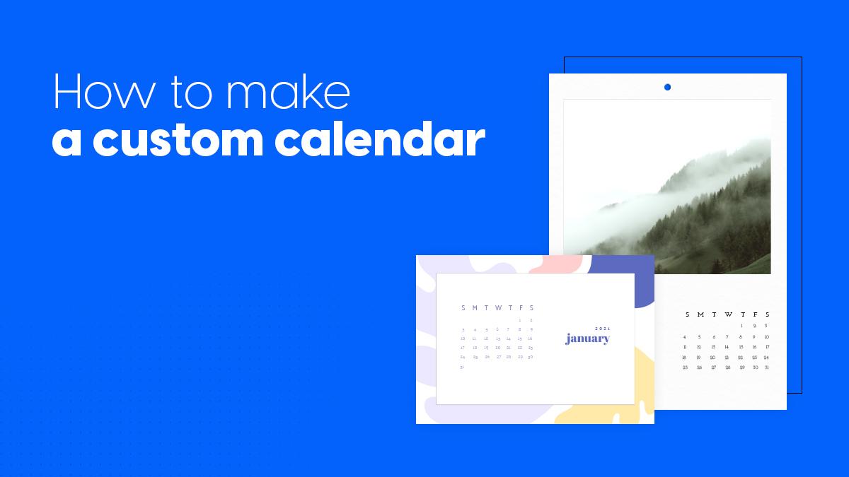 how to make a custom calendar cover