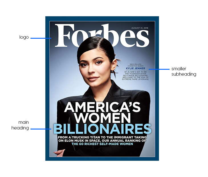 Forbes magazine cover with Kylie