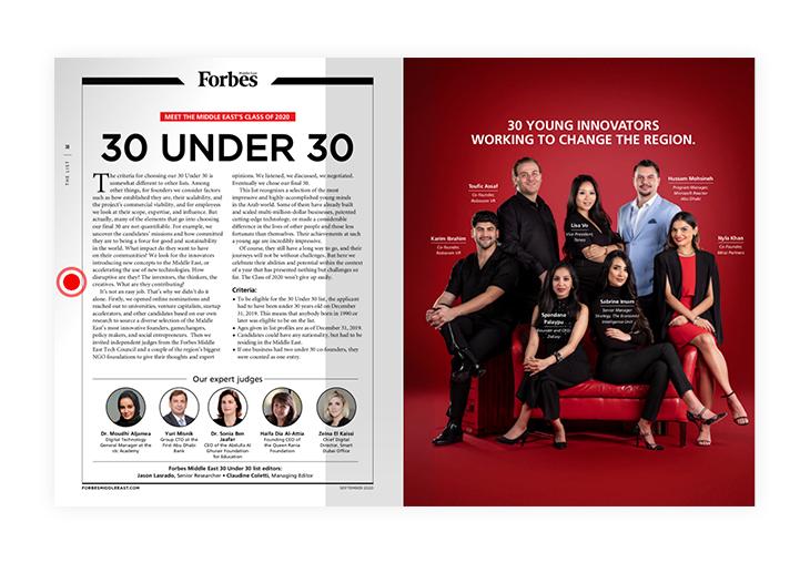 30 Under 30 Forbes magazine