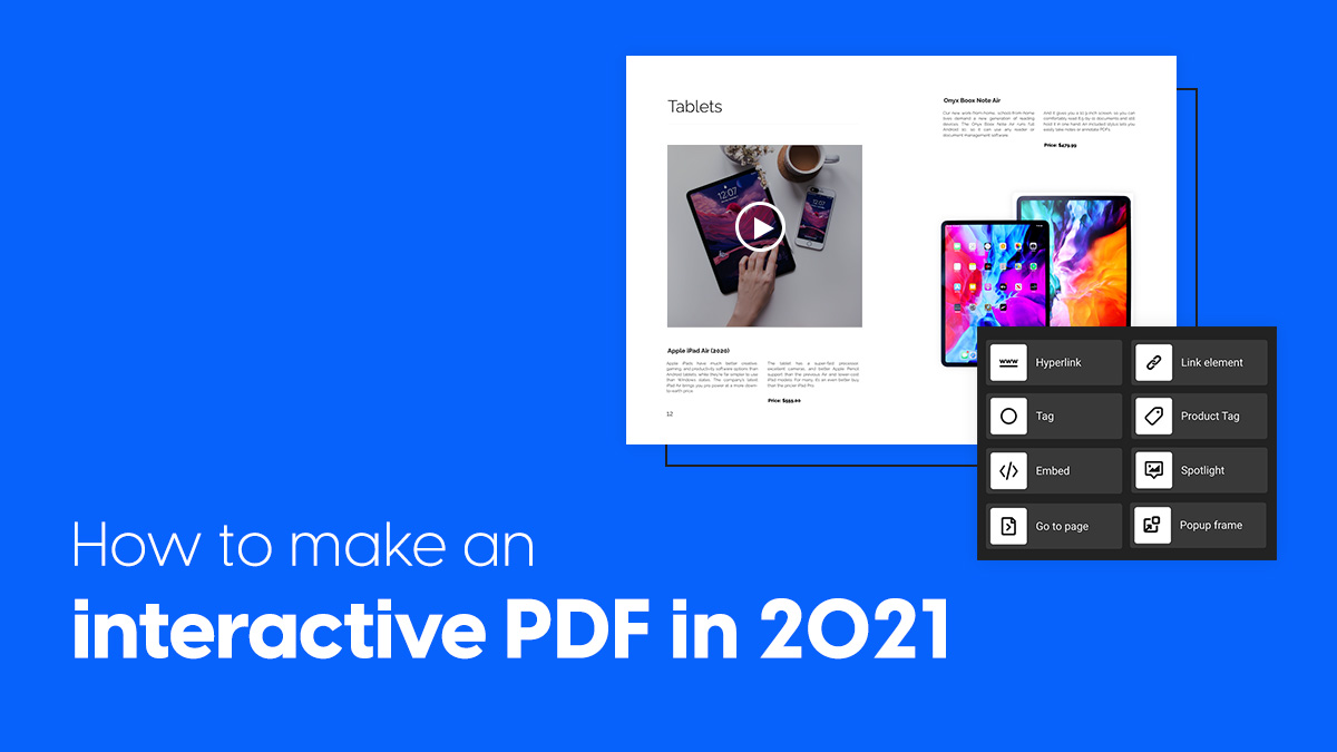 How to make an interactive PDF blog post cover