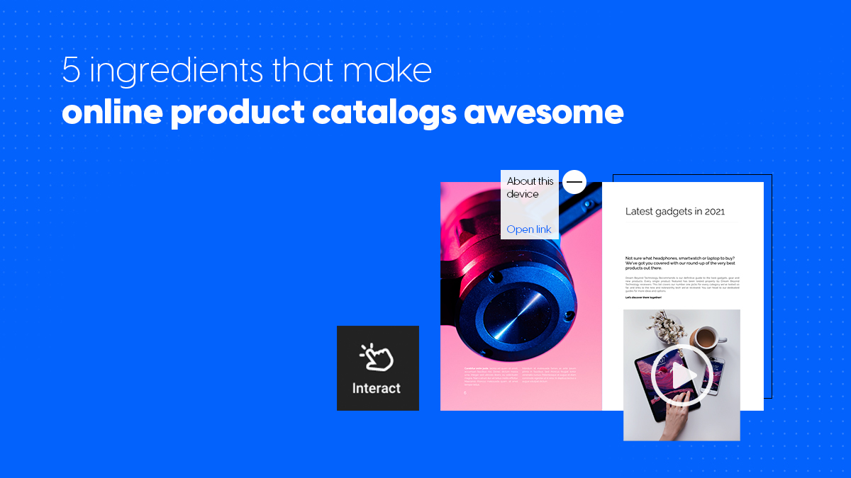 online product catalogs cover