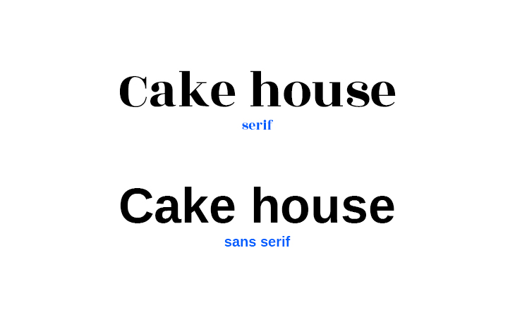 Serif font VS Sans Serif font