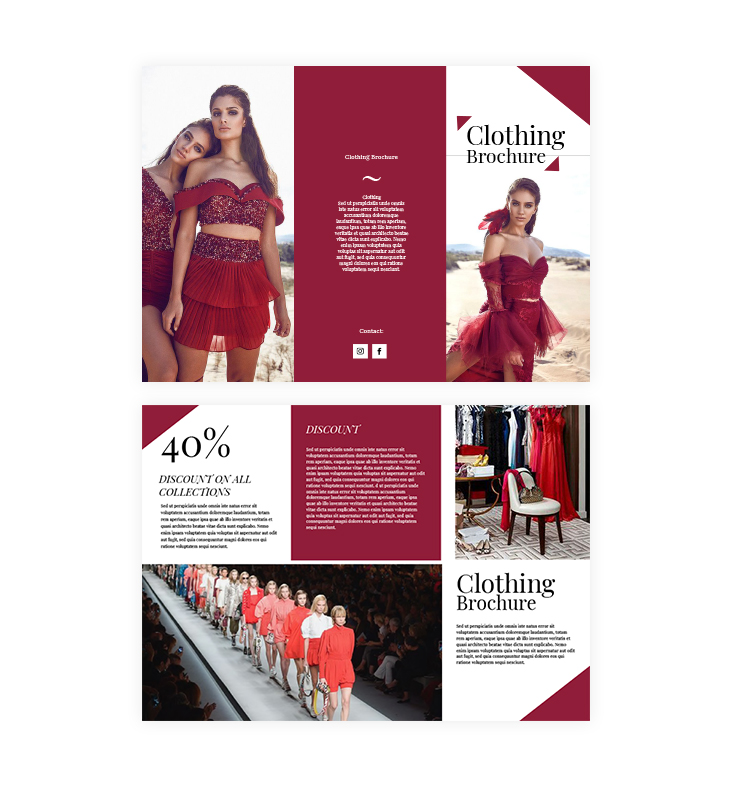clothing trifold brochure template