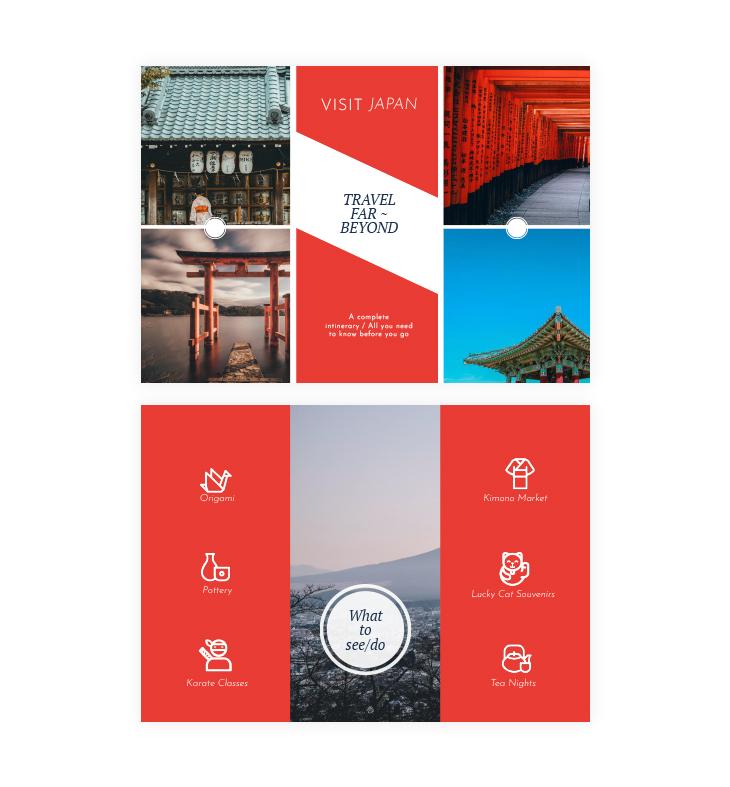 tourist trifold brochure template