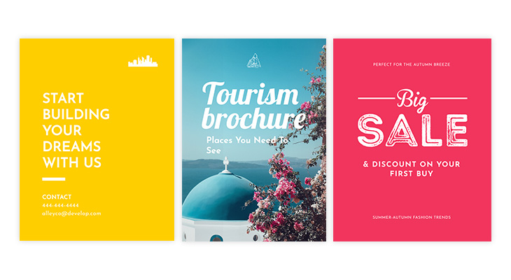 Brochure design examples with catchy headlines