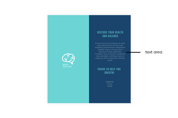 body text brochure design