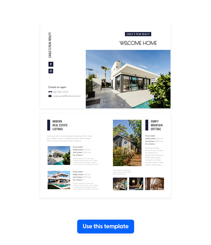 Modern Real Estate Bi-Fold Brochure Template
