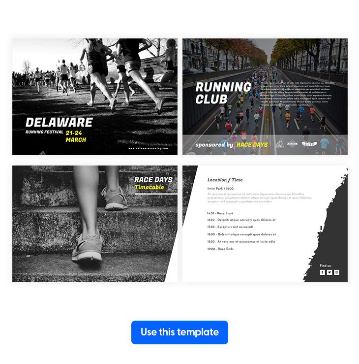 Marathon Brochure Template