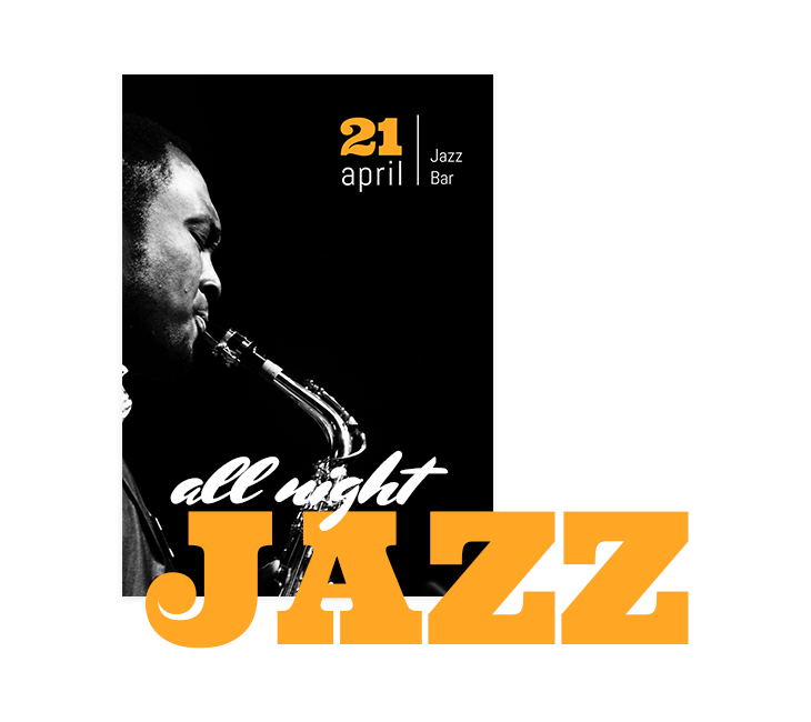 Sample Jazz Event Brochure Front Cover