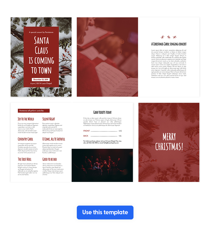 Red & white Christmas Brochure Template