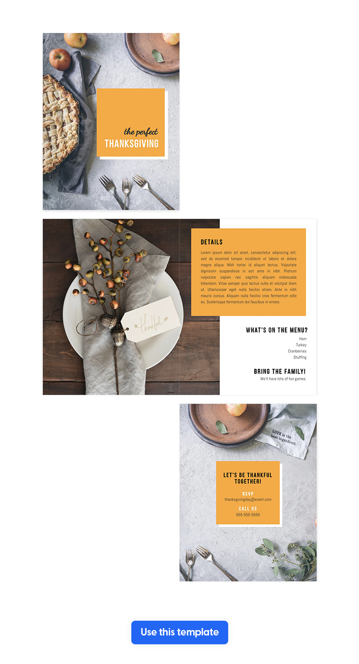 Thanksgiving Bi Fold Brochure Template