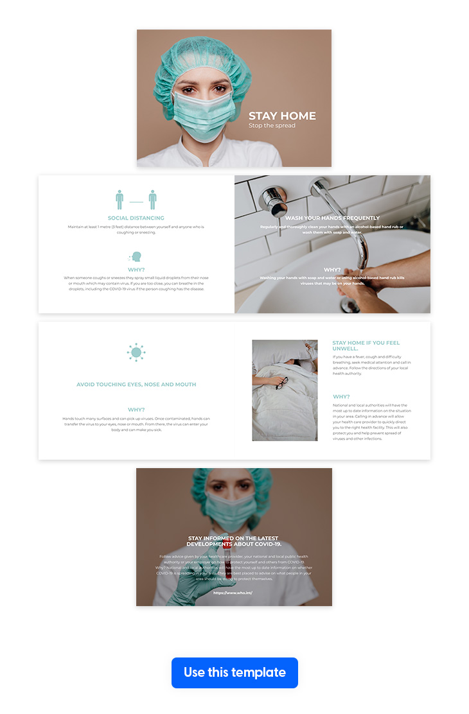 coronavirus medical brochure template