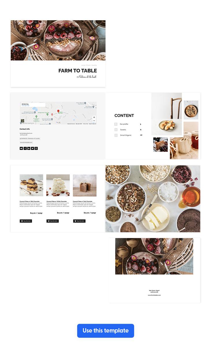 Interactive Food Catalog Design Template