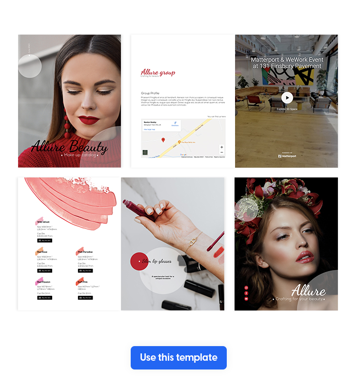 Interactive Make-up Product Catalog Template