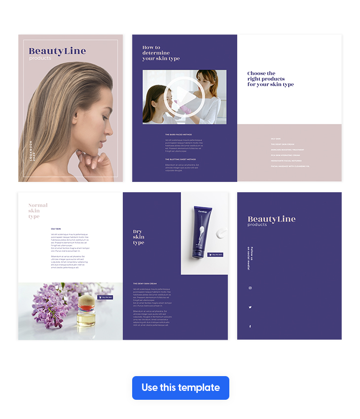 Interactive Beauty Products Catalog Template