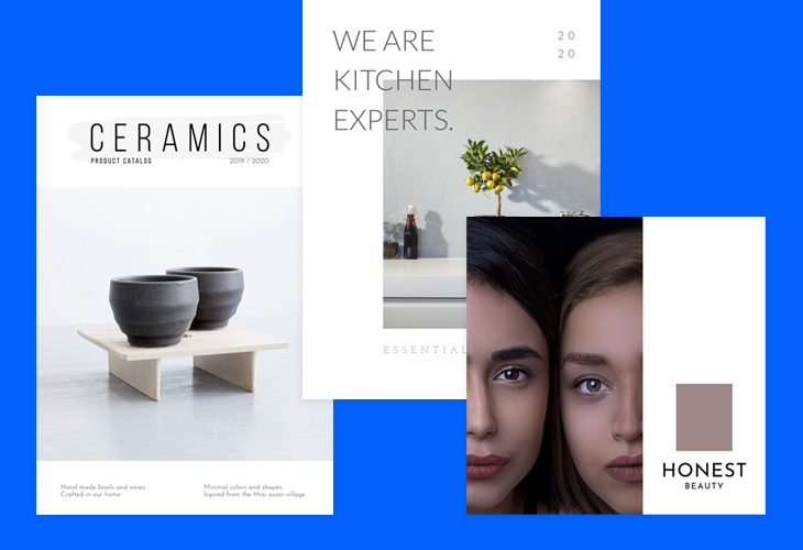 how a professional cover of a product catalog should look like