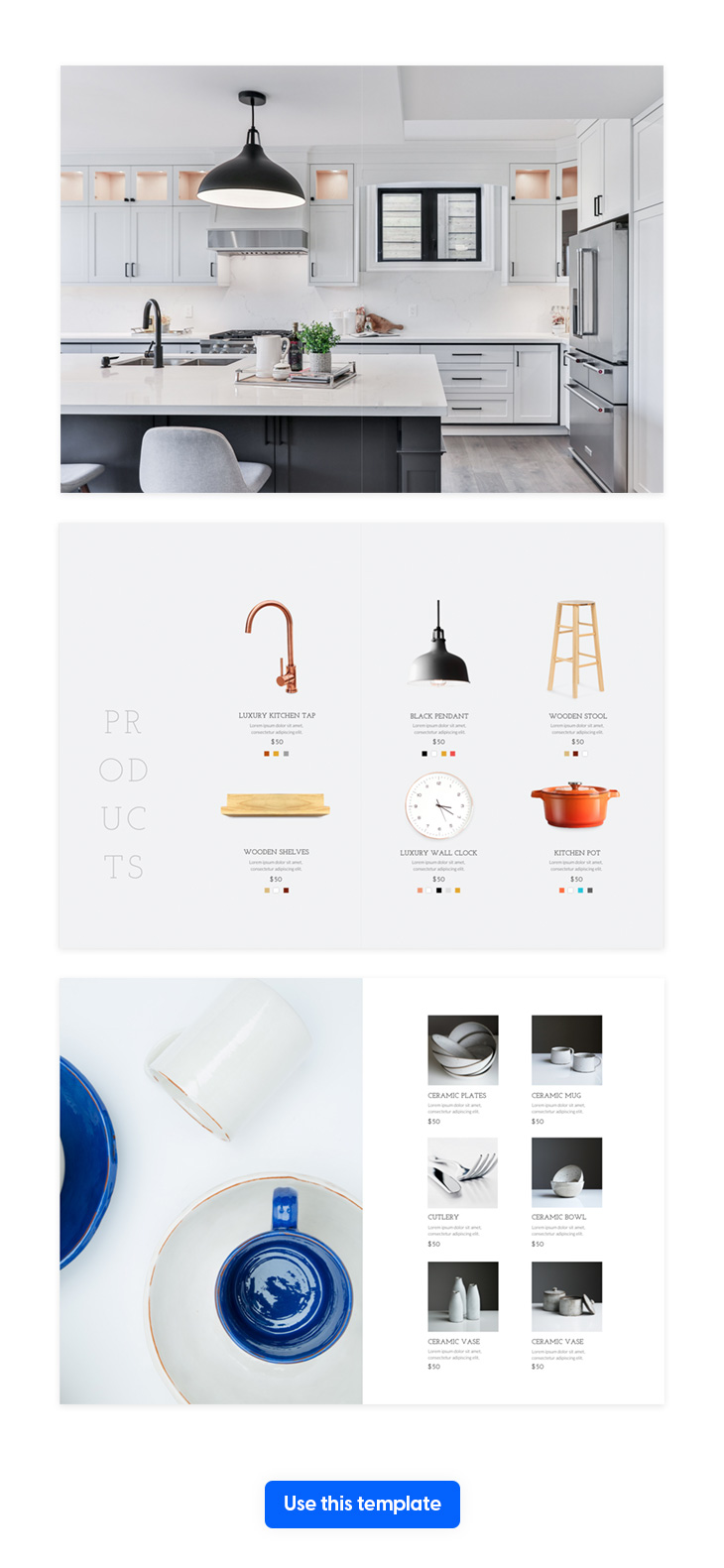 an attractive page layout example