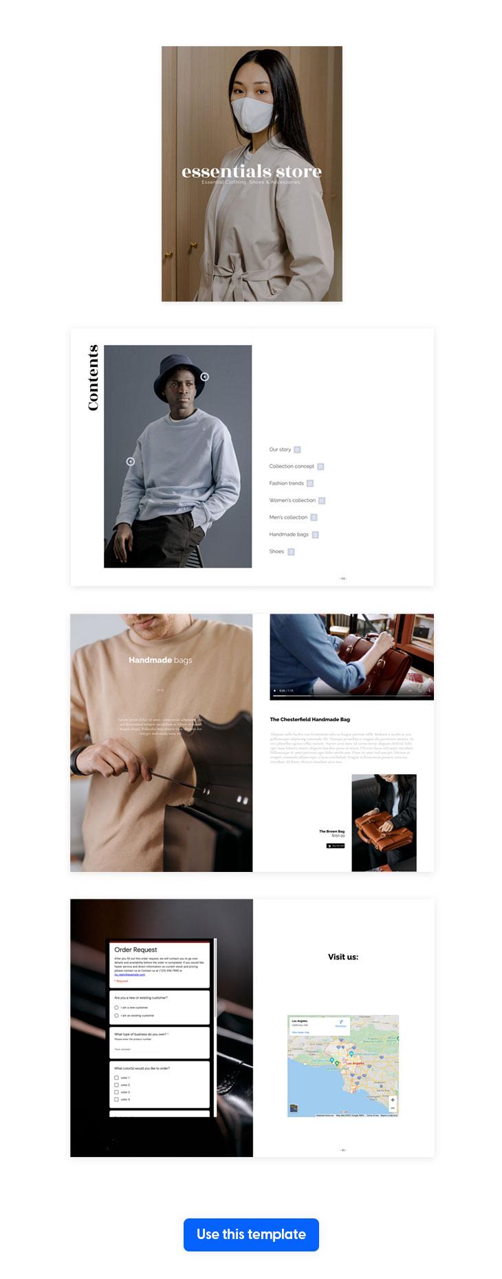 interactive fashion catalog template