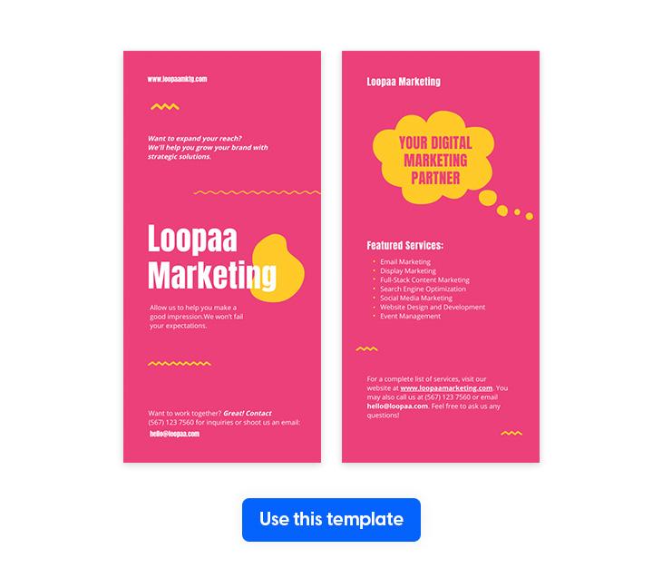 Pink Marketing Flyer Template