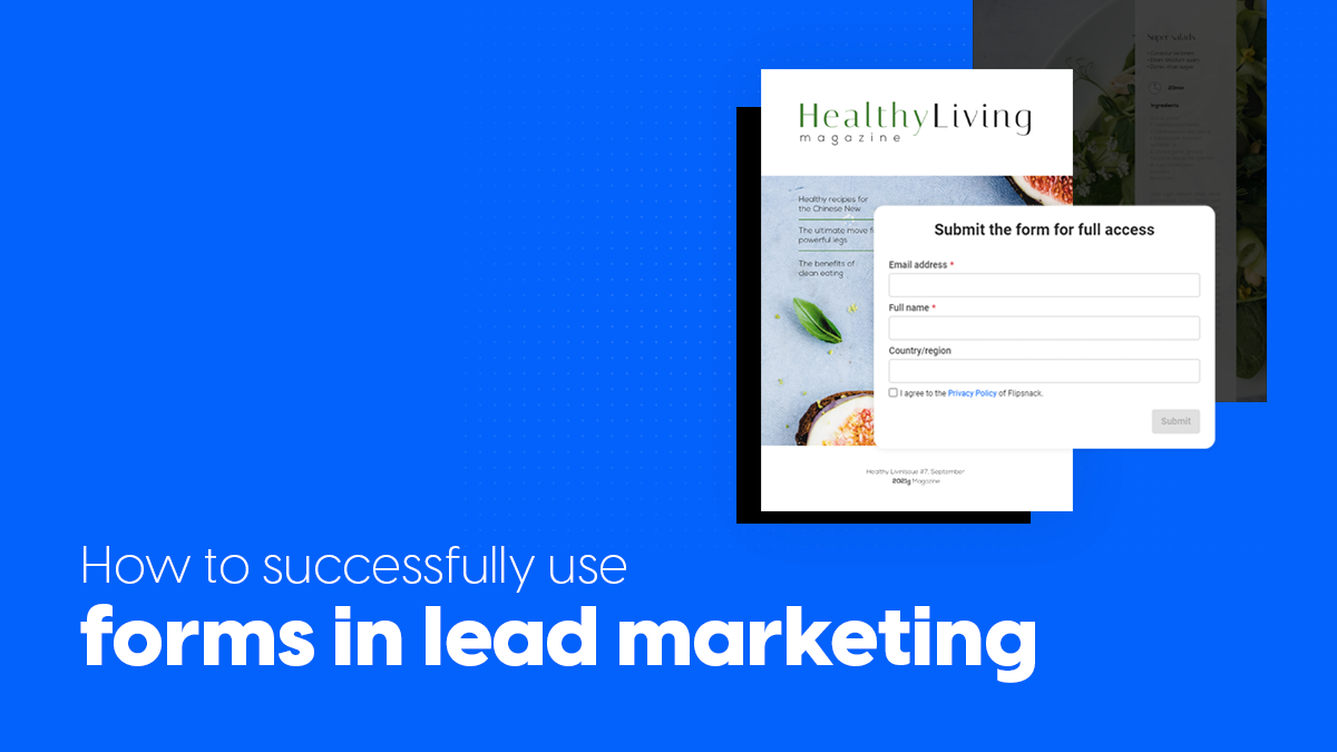 How to successfully use forms in lead marketing cover