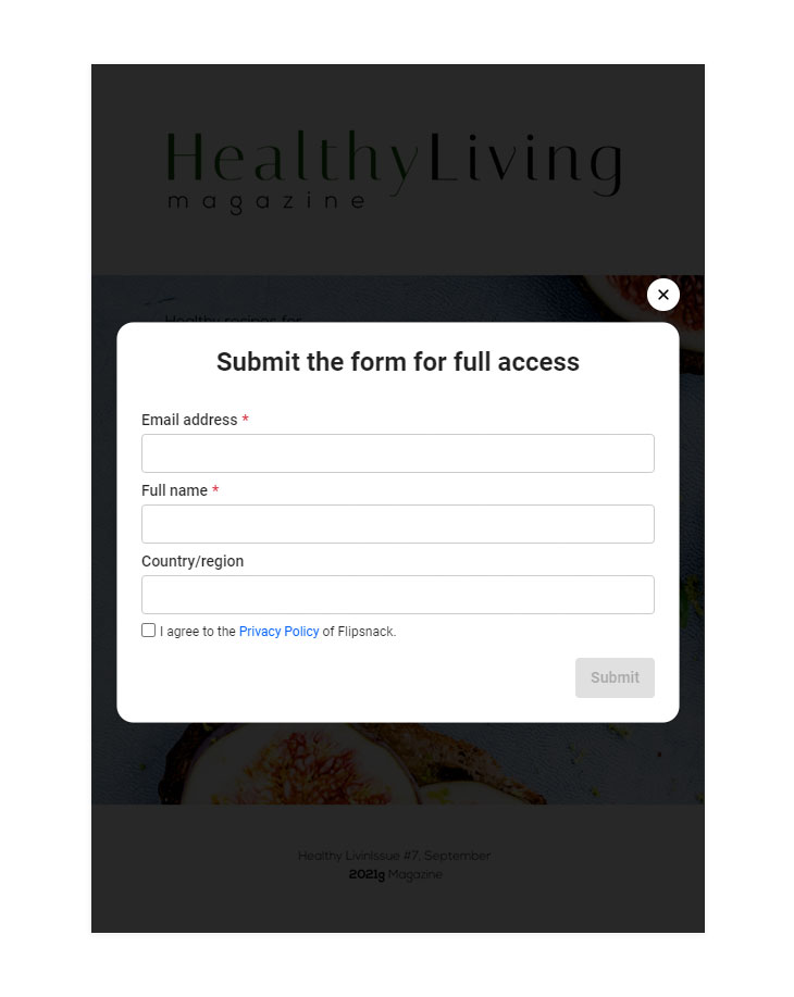 Gated content through lead generation form
