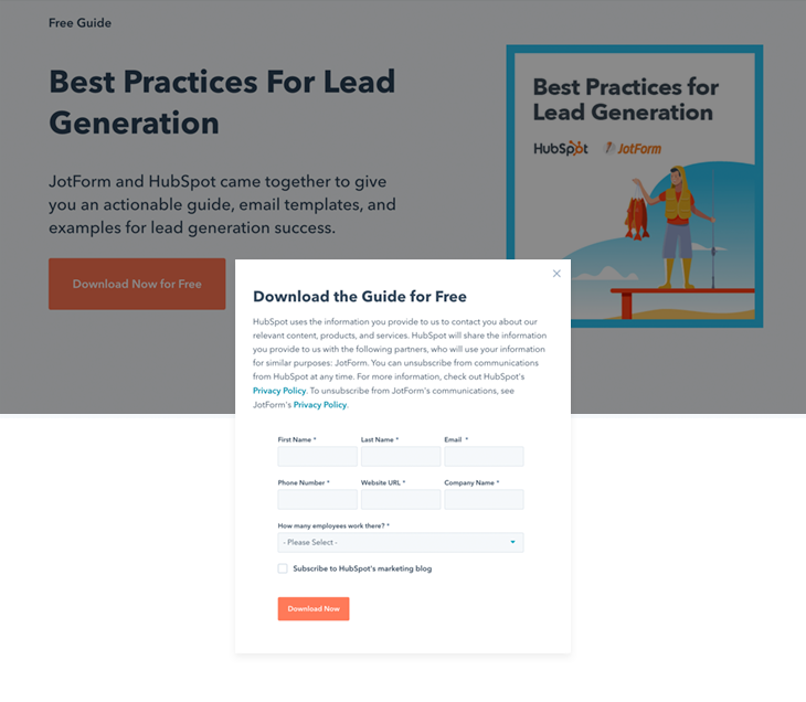 Ebooks collect high-quality leads