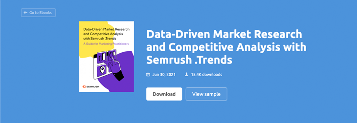 product presentation example from Semrush