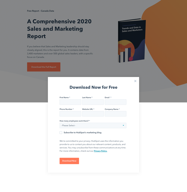 round-up example from Hubspot