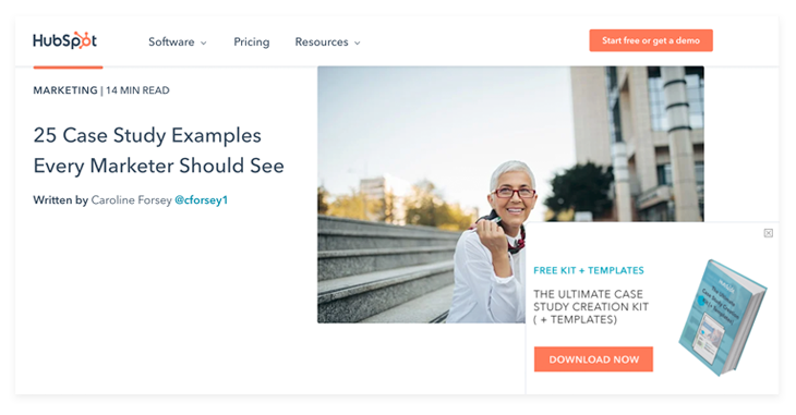case study example from Hubspot