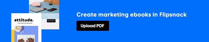 creating marketing ebooks in Flipsnack banner