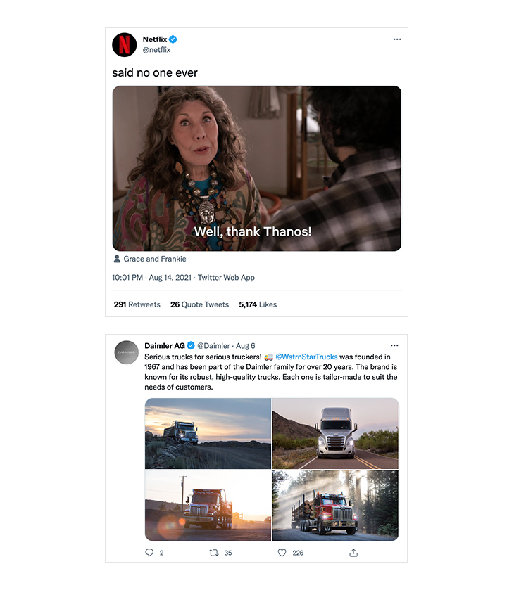Netflix VS Daimler tweet