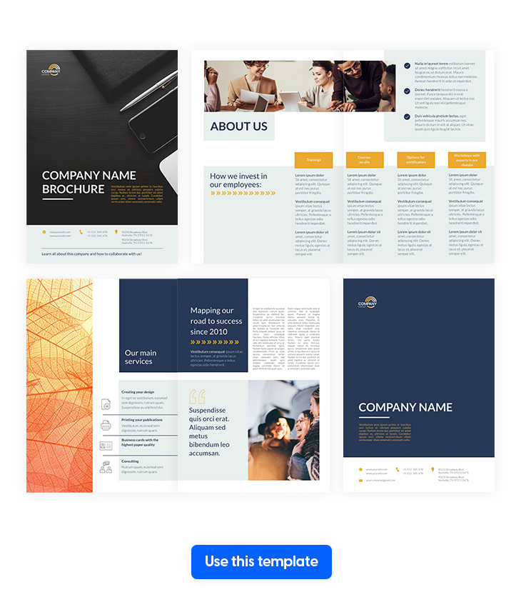 business brochure template made in Flipsnack