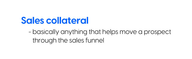 what is sales collateral Flipsnack