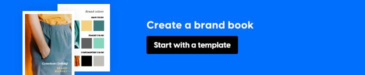 create a brand book banner in Flipsnack